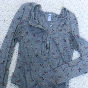 American Apparel thermal bodysuit Henley